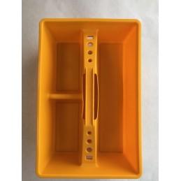 CASSETTA PORTA UTENSILI IN PLASTICA COLORE GIALLO MISURE 38x24x10 CM