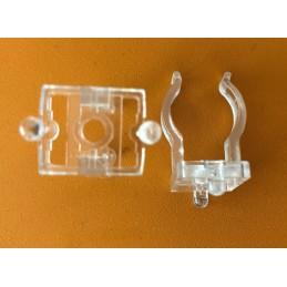 LOTTO 10 PZ 131/A GANCI in policarbonato trasparente PORTALAMPADA STUCCHI