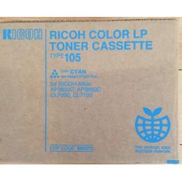 TONER RICOH TYPE 105 CIANO ORIGINALE CODE 885375 PER AP3800C, AP3850C, CL7000, CL7100