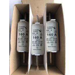 3 PEZZI WIMEX FUSIBILE LAMELLARE AM NH0 160A 500V AC 120KA COD. 550.0183
