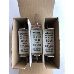 3 PEZZI WIMEX FUSIBILE LAMELLARE NH-00/000 80 A 500V AC 120KA COD. 550.0080