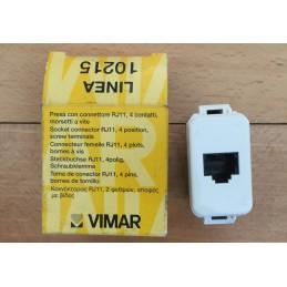 VIMAR SERIE LINEA 10215 PRESA RJ11 4 CONTATTI