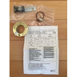 FARETTO DA INCASSO DORATO 48 MM ATTACCO GU4 12V / MAX 20W MOD. 5660