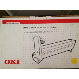OKI IMAGE DRUM TYPE C6 YELLOW ORIGINALE CODE 42126605