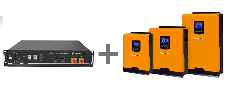 Kit Inverter e batteria Lifepo4