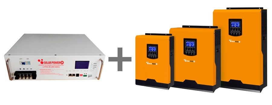 Kit Inverter e batteria Lifepo4